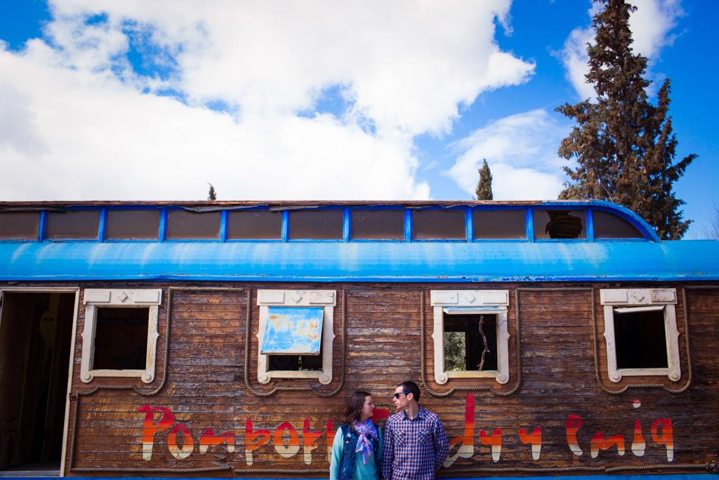 Preboda en un vagón: Miriam y Jose